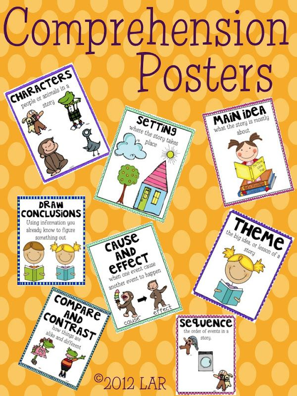 Need to make these for my Reading Board... Comprehension Posters
