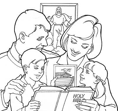 lds coloring pages family - 13 best reading and studying the scriptures images on