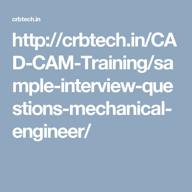 how to prepare for mechanical engineering interview