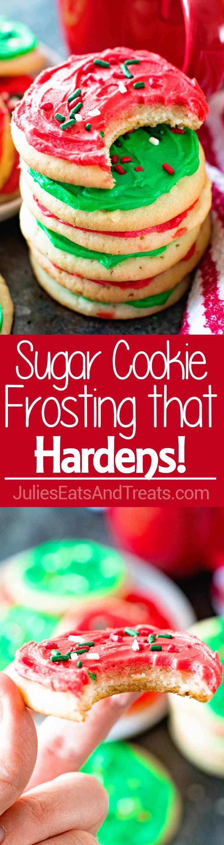 Homemade Sugar Cookie Frosting that Hardens ~ The Perfect Sugar Cookie Frosting for Decorating! If You Are Looking for Frosting For Sugar Cookies that Hardens this is it! via @julieseats
