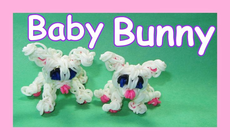 Rainbow Loom Easter BABY BUNNY Rabbit Charm
