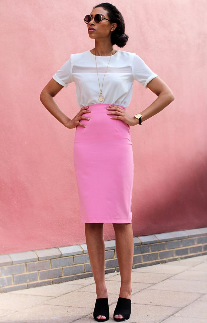 What I Wore: Pink Zara Skirt: Fresh Lengths