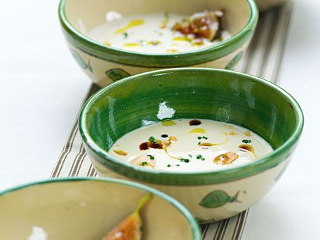 Cold Almond and Garlic Soup with Figs and Marcona Almonds