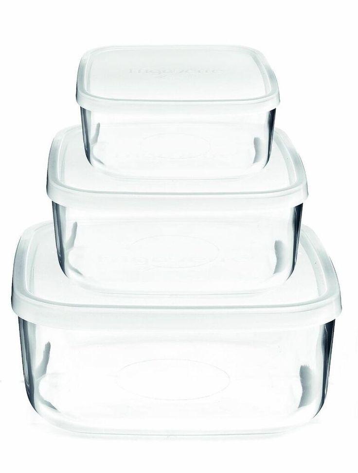Frigoverre 6-Piece Square Food Storage Set