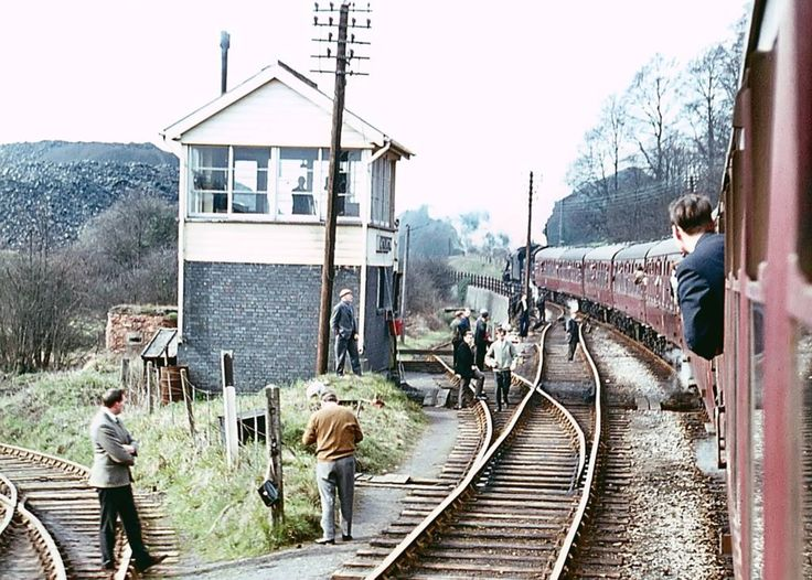 S & D. Writhlington Signal Box near Radstock which is just down the line. The line to the left goes into Writhlington pit.