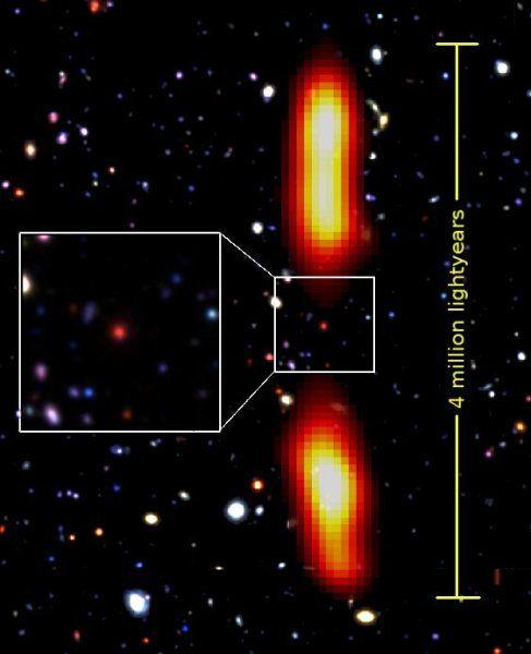 Rare, dying, giant radio galaxy 9 billion light years away -- ScienceDaily