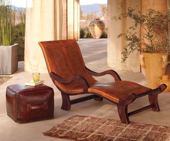 Miguelito Leather Lounge Chair Napa Style