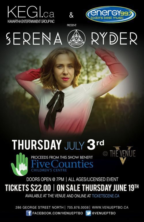 Serena Ryder Live at The Venue in Peterborough, ON - Thursday, July 3, 2014. Tickets available at: http://www.ticketscene.ca/events/10962/Pinterest
