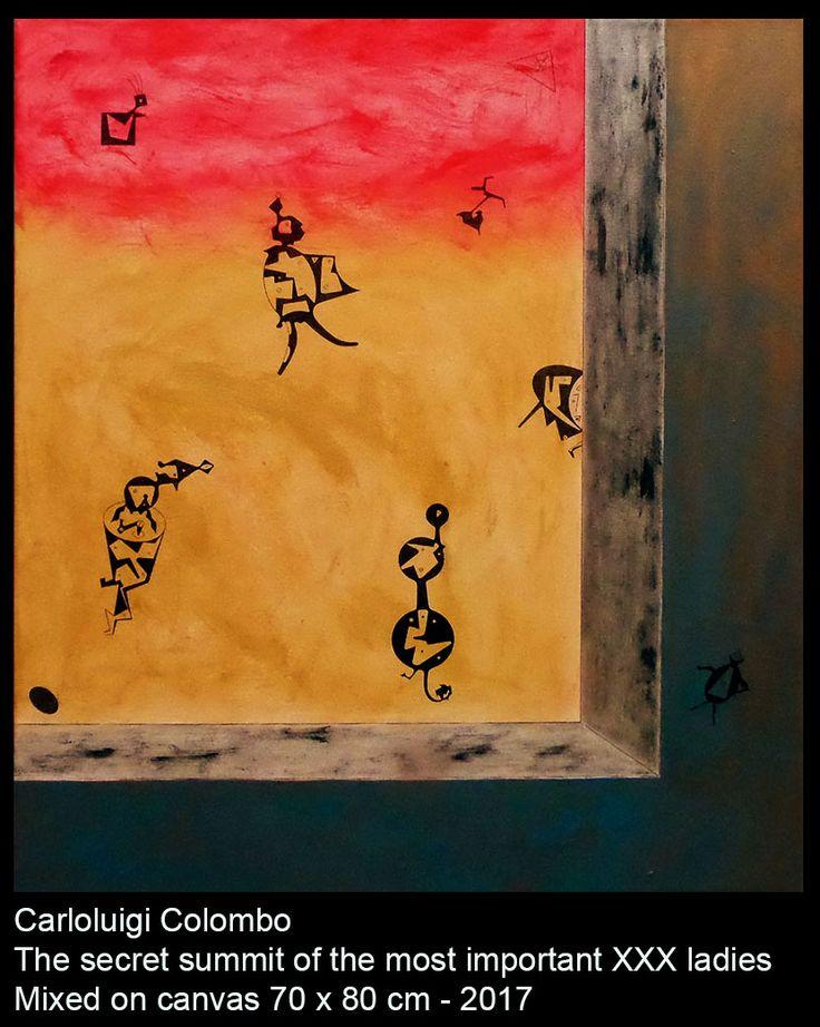 xxx girls, Carloluigi Colombo, painting, art, esorinism, Riolo Terme, Faenza, Italy