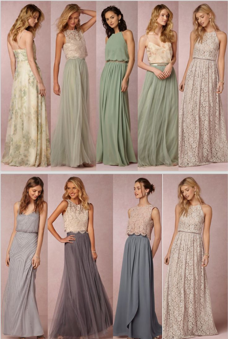 Shelbs' creativity shining through. Bridesmaid dress ideas.. Love the idea of cohesive but different dreses