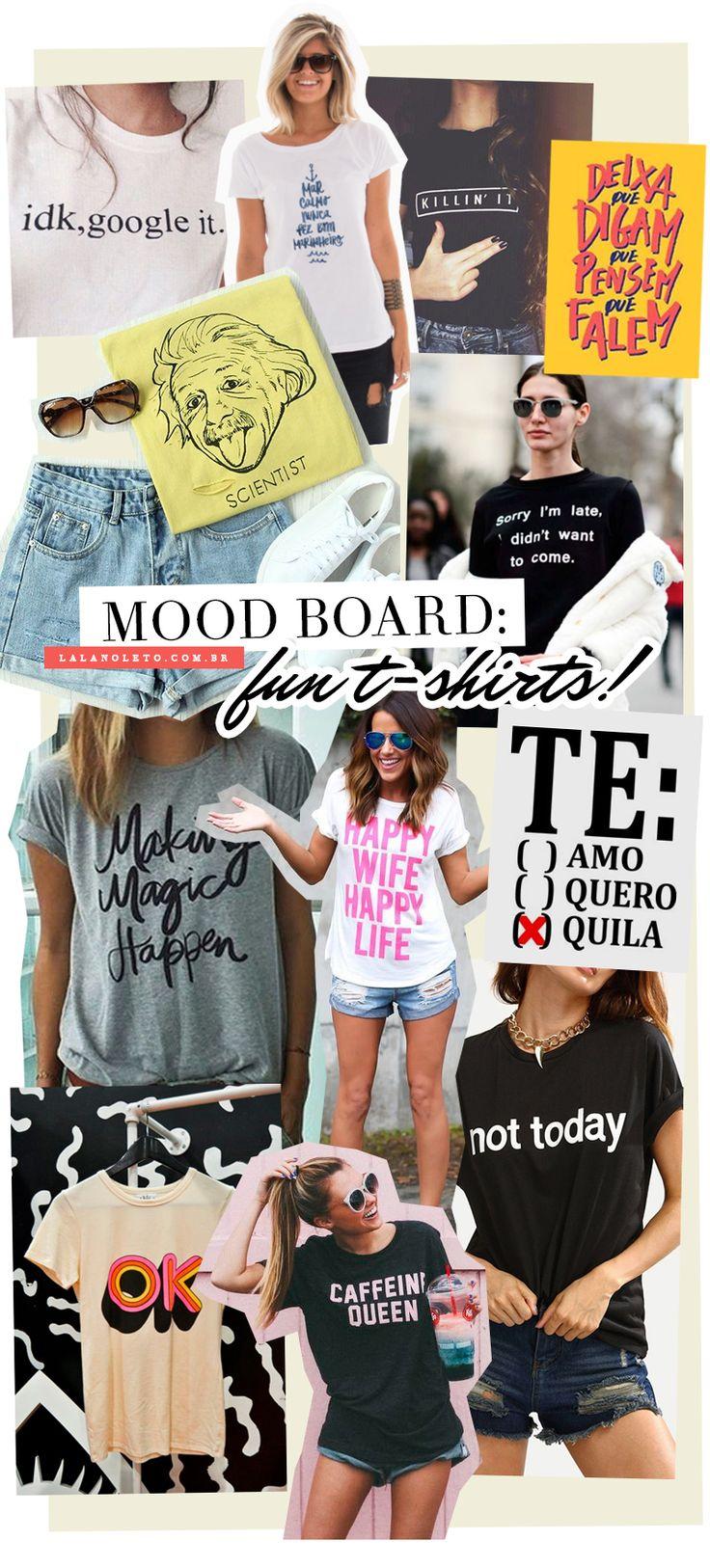Dicas e inspirações para acrescentar muita energia positiva aos looks deste verão. As camisetas com palavras e frases estão com tudo nesse verão!