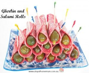 Gherkin and Salami Rolls | Stay at Home Mum