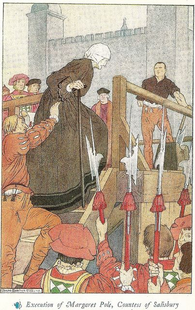 The Beheading of Margaret Pole, Countess of Salisbury, during the reign of King Henry VIII.