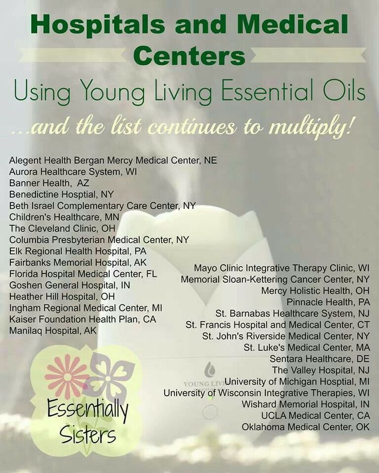 Hospitals using Young Living Oils - https://www ...