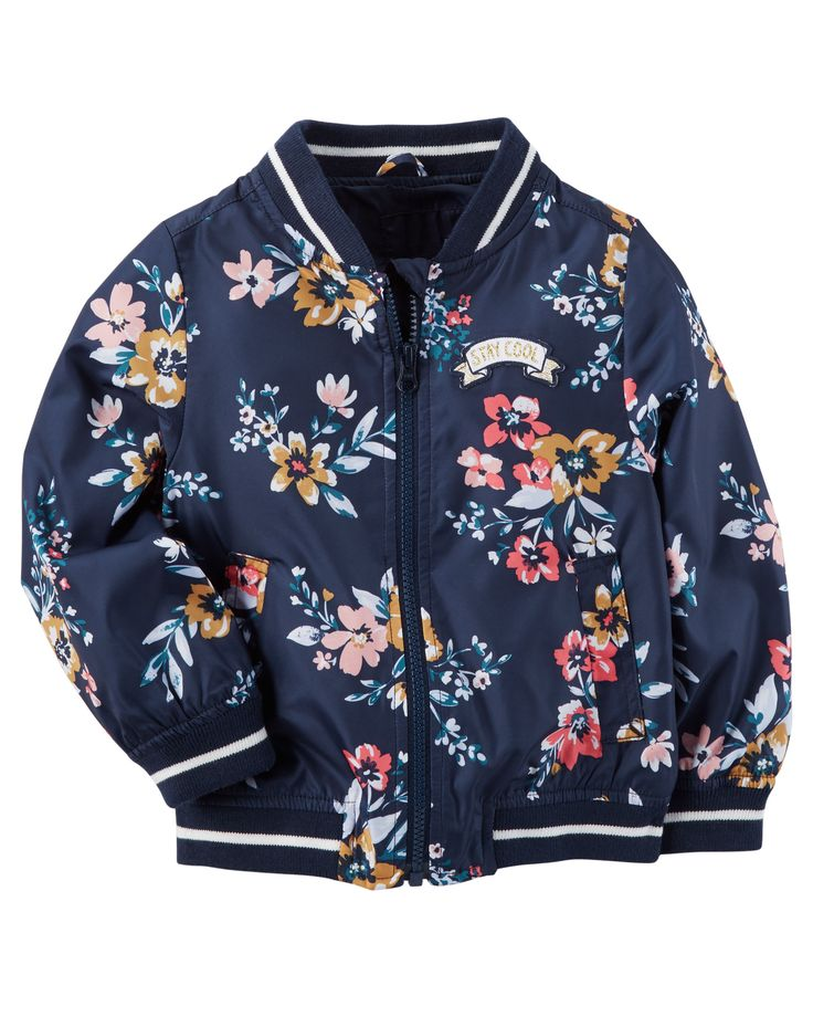 Toddler Girl Floral Bomber Jacket from Carters.com. Shop clothing & accessories from a trusted name in kids, toddlers, and baby clothes.