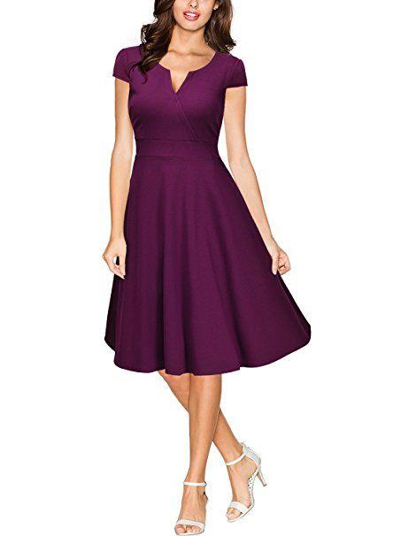 Kleid a linie lila
