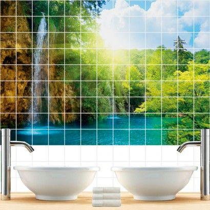 Waterfall Tile Murals
