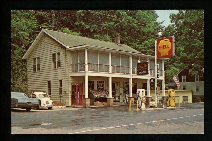 New York NY postcard Silver Bay General Store Shell Gas Station pumps Motel | eBay