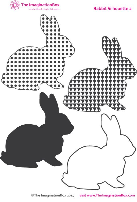 A selection of Easter Bunnies, free to download and print from The ImaginationBox. Useful for card making, collage, coloring, bunny bunting and beyond.....