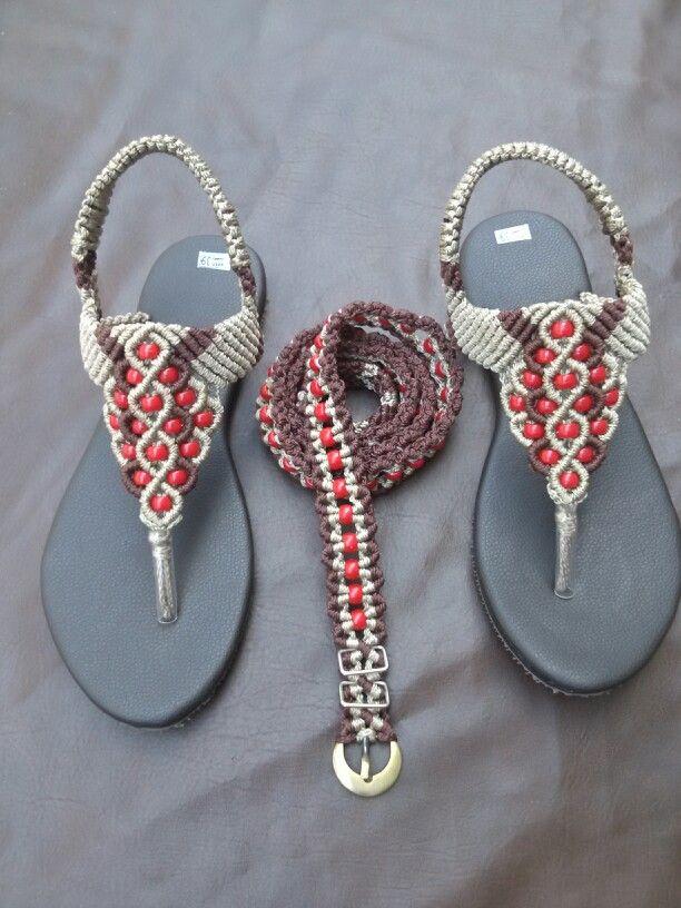 Sandal and belt