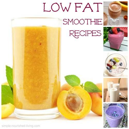 Favorite Recipes for Low Fat Smoothies with Weight Watchers Points Plus. http://simple-nourished-living.com/2014/06/low-fat-smoothies/