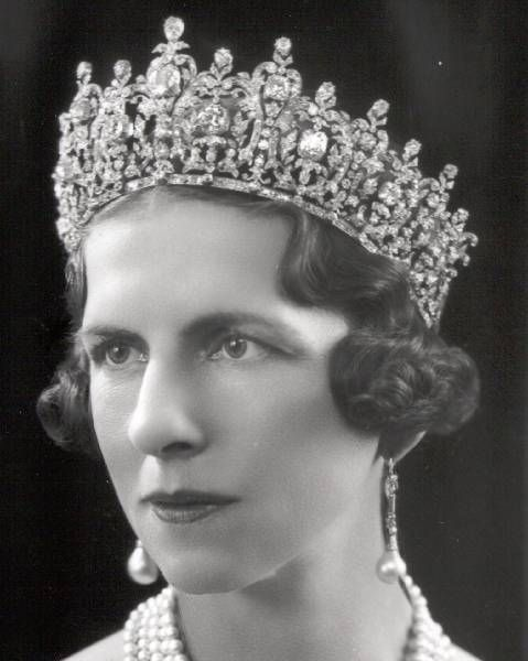 Princess Helen of Greece and Denmark wearing Queen Sophie's Diamond Tiara.
