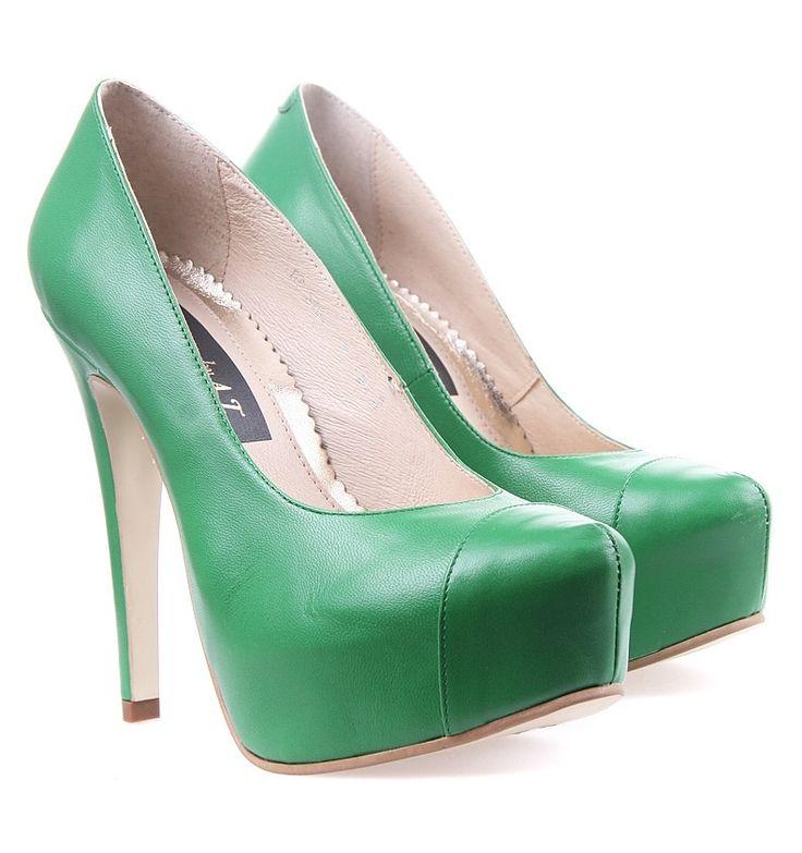 Pantofi piele Verzi Glamour by AT