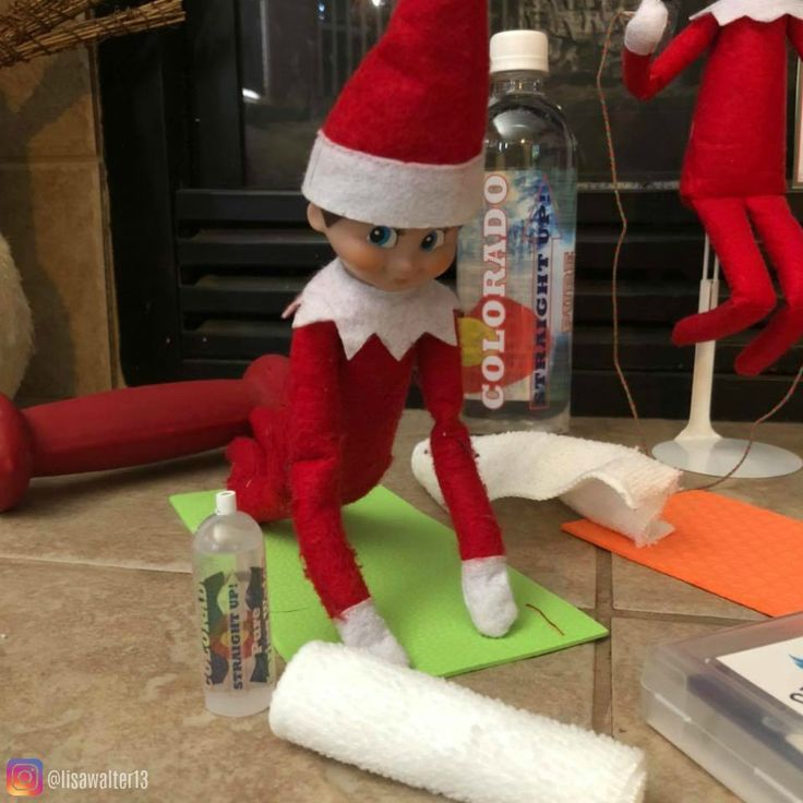 Elf On The Shelf Ideas This Morning Jingle Elfonso Lashes Were Working Out