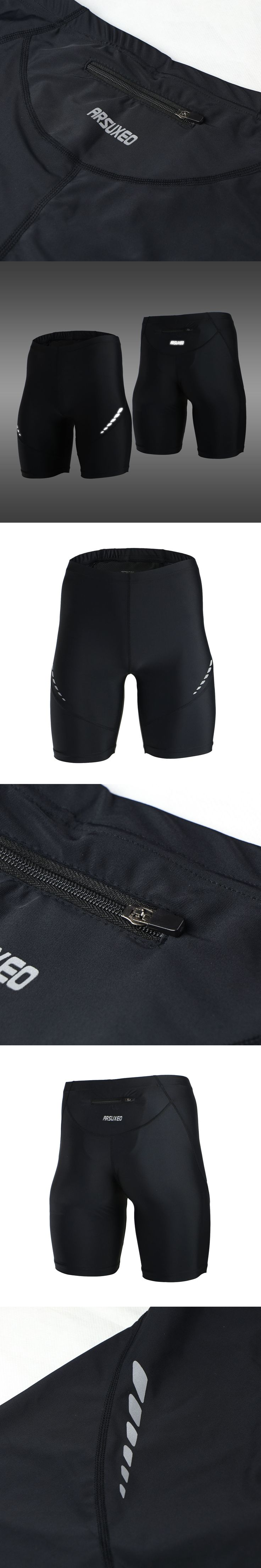 Pro Men's Running Tights Short Reflective Quick Dry Elastic Sports Leggings Compression Gym Fitness Shorts  Summer Sweatpants