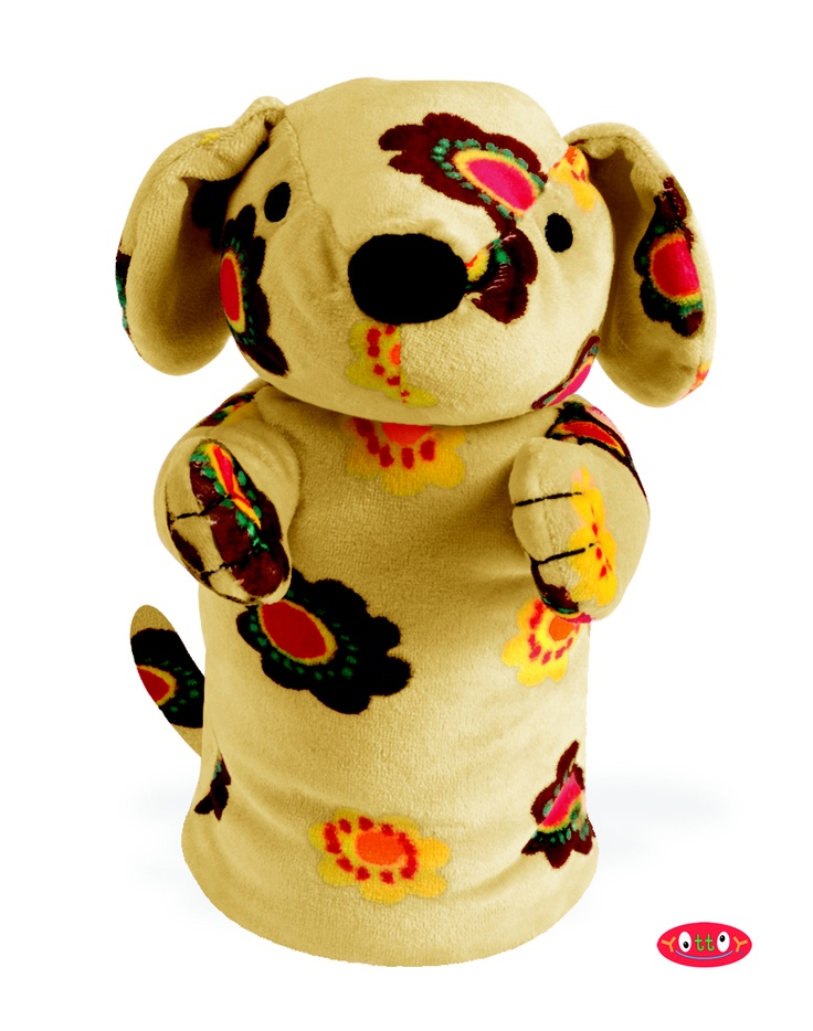 "Magalina Dog Puppet 10""  Made of soft velour with embroidery details!  Item #92727  $20.00"