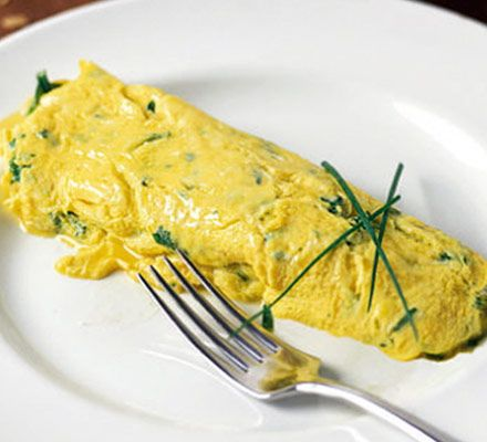 Ultimate French omelette | BBC Good Food  http://www.bbcgoodfood.com/recipes/1669/ultimate-french-omelette