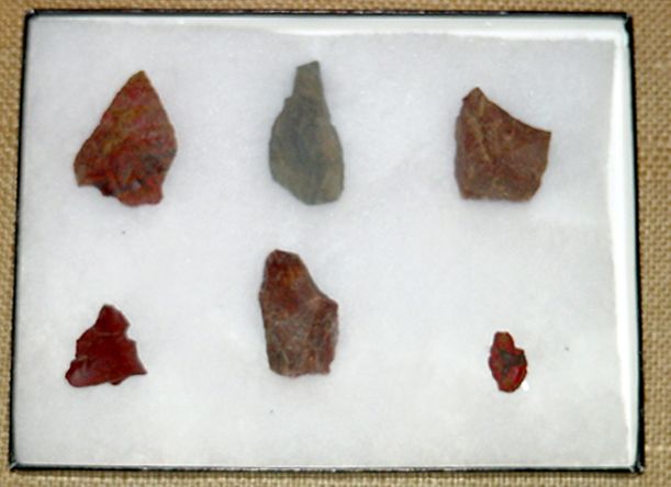 Arrowheads found in Big Tujunga Canyon. The Tongva village at the mouth of Big Tujunga Canyon was the largest Native American settlement in the Los Angeles area, dating back to 435 A.D. Little Landers Historical Society. San Fernando Valley History Digital Library.