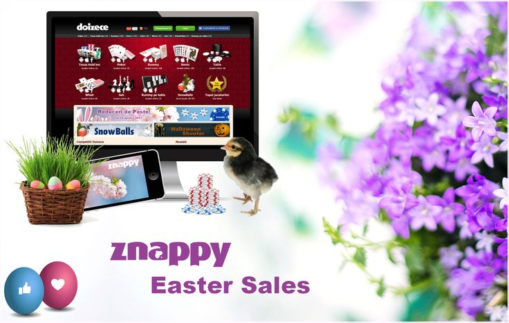 🐣 Znappy Easter in April 12th - 19th: Catch our holiday promotion. Click on the link below to see what we've prepared for you: http://www.doizece.ro/holdem/promo-details 🐣 #ZnappyGames #Easter #bunny #Lamb #Reducere #Sales