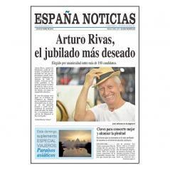 Falsa portada de periódico Jubilado