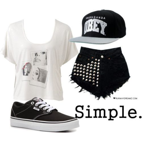 Swag Outfits for Girls | Polyvore, outfit, snapback, swag - image #776865 on Favim.com