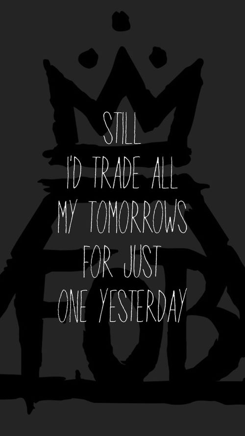 Fall Out Boy - Just One Yesterday Lyrics | MetroLyrics