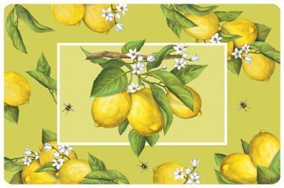 """Lemons Mat, 27"""" x 18"""" by KitchenFloorMats. $34.82. Lemons - 4mm Washable Floor Mat, 27"""" x 18"""" - While lemonade may be a summer treat, our Lemons Mats will provide comfort and inspiration through the winter."""