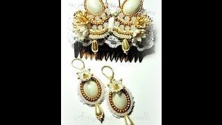 Wedding accessories Bead embroidery