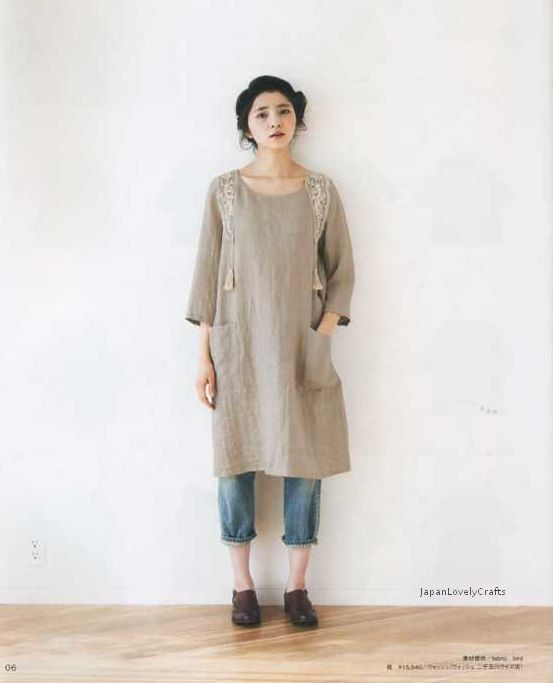 OnePiece & Tunic Japanese Sewing Pattern for by JapanLovelyCrafts