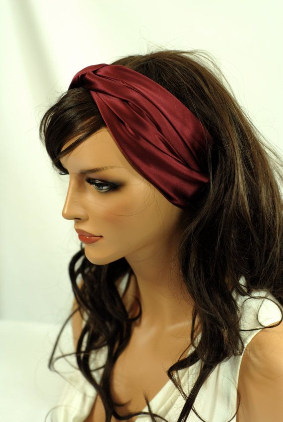 SALE Silk Hair and Sleep Scarf, Burgundy Charmeuse Hair Scarf for Hair Care, Generous Size