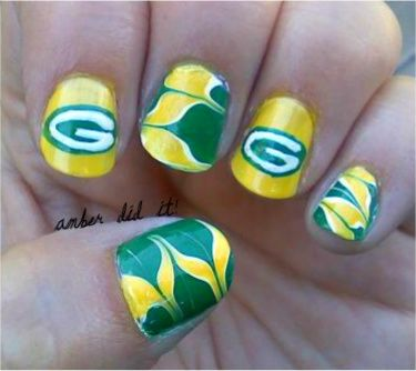 Green bay Packers and dry marbling.