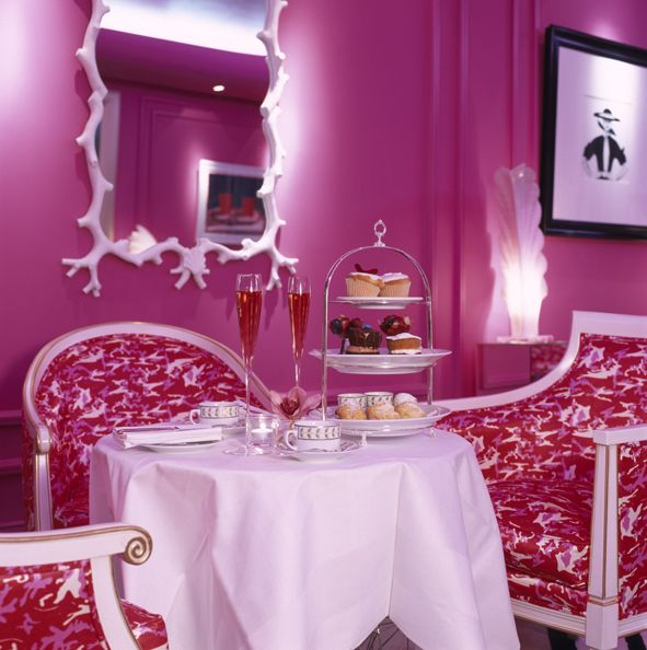 Signature 'Pink' Afternoon Tea in the Ladies Salon decorated in energising pink by Philip Treacy, celebrity milliner & native of Galway. www.theghotel.ie