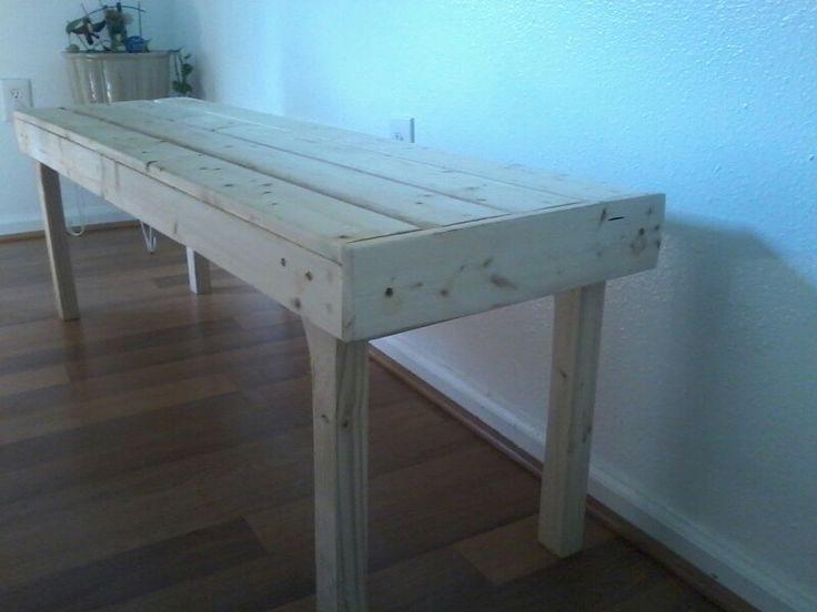 "Benches/When you can't find pallets.  If you have wood glue and extra screws from another project, this will cost under $20....$15. 48""×15""×18""."