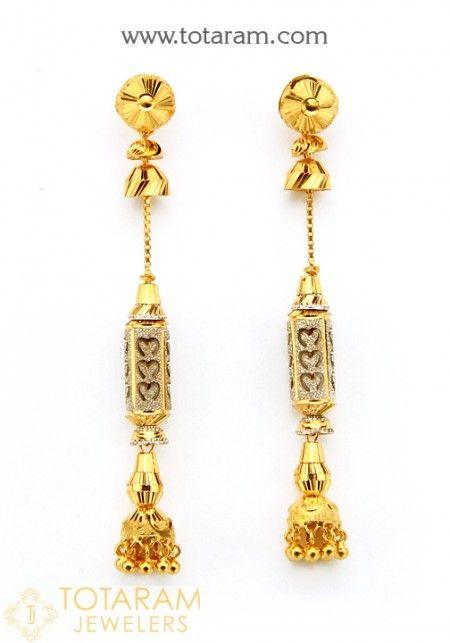a3ad41bff Gold Drop Earrings - Buy Online 22K Indian Gold screw back Drop Earrings,  South Indian Gold Drop Earrings like gold jhumkas, Gold Makarakundanalu  earrings, ...