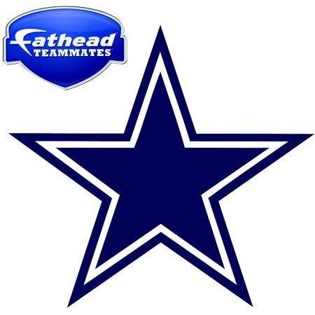 Fathead Dalas Cowboys Teammate Logo, Multicolor