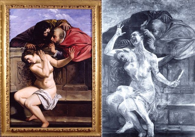 "rgfellows: "" rgfellows: "" kanyewestboro: "" calanoida: "" Susanna and the Elders, Restored (Left) Susanna and the Elders, Restored with X-ray (Right) Kathleen Gilje, 1998 "" wow "" Oooh my gosh this is..."