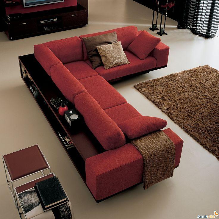 Pi di 25 fantastiche idee su mobili angolari su pinterest - Divano angolare con libreria ...