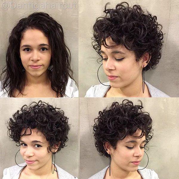100 Elegant Short Curly Hair Ideas 2019 Fashion 2d Short Curly Hair Short Hair Styles For Round Faces Curly Hair Styles
