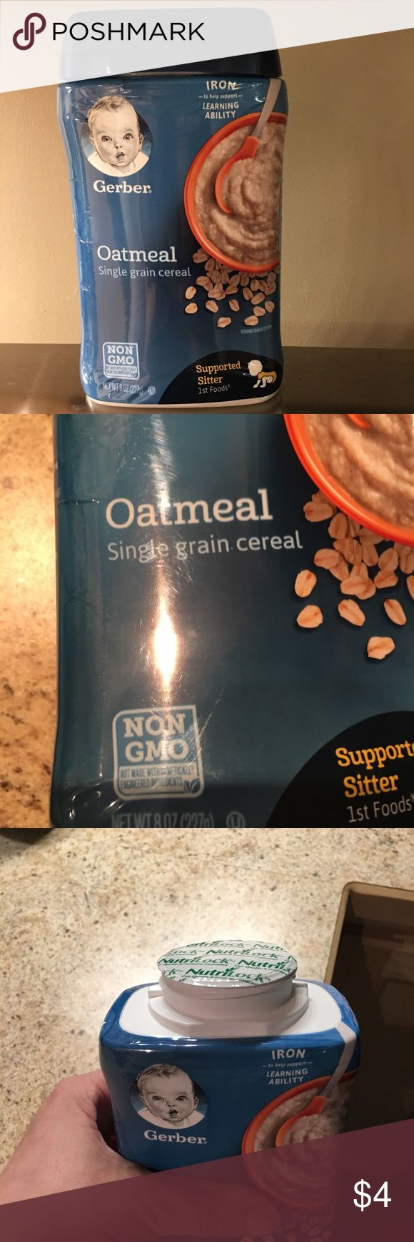 Gerber Oatmeal Infant Cereal Gerber 1st Foods Supported Sitter Oatmeal Single grain cereal. Brand new with the seal still intact. 8 oz container. Husband bought instead of rice and not able to return or exchange. Expires December 2018 Gerber Other