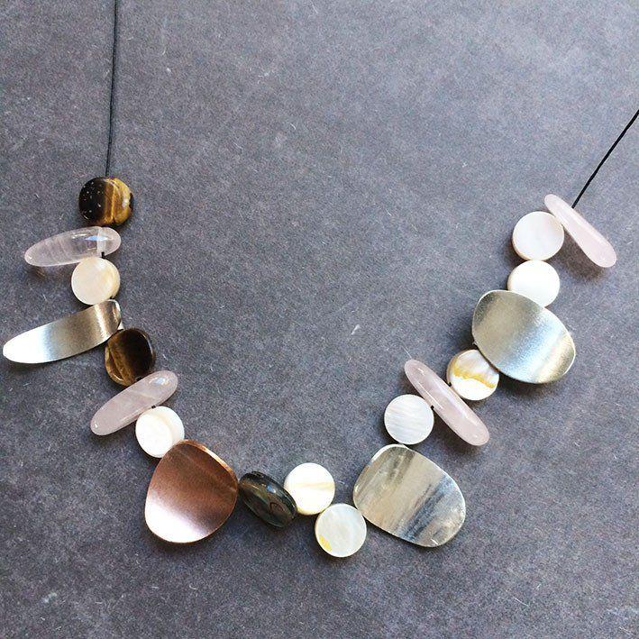 Silver and Stones Necklace - Colar de prata e pedras naturais Handmade By Carla Amaro Buy Now :) www.carla-amaro.com